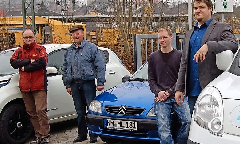 v.L. Luitpold Fuchs - Max Söllner - Markus Lelonek - Fa. Freitag