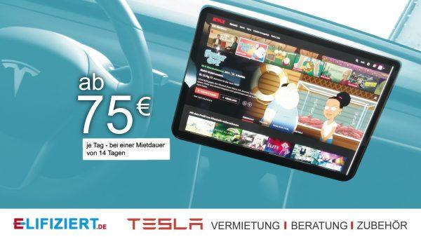 Tesla Model 3 mieten ab 75€ bei 14 Tagen Mietdauer