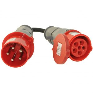CEE Adapter 32A Stecker auf 16A Kupplung